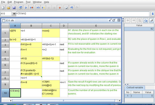 Grid user interface and cell-style code