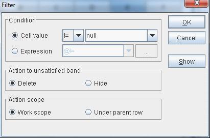 merge data in the self-service BI software