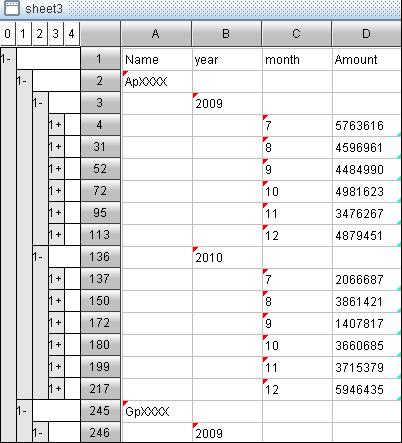 business spreadsheet tool-delete columns