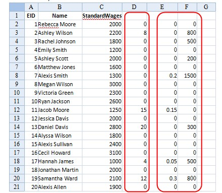 esCalc spreadsheet calculating 17