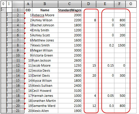 esCalc spreadsheet calculating 18